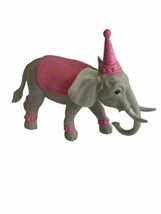 Birthday Elephant Toy Figure Party Pink Hat Cake Topper Dumbo Mom Toy - $12.86