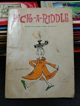 Pick a Riddle by Ennis Rees 1966 Vintage Scholastic Paperback Book First... - $9.62