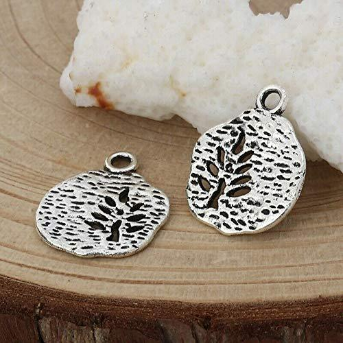 Primary image for Tree of Life Charms 18mm Antiqued Silver Plated Pendants 10 pcs