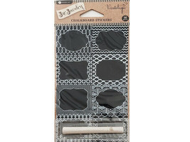 Hampton Art Vintologie Chalkboard Stickers with Chalk #AC0530