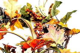 CraftMore Fall Mixed Maple Leaf Garland 6' image 3