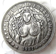 New Hobo Nickel 1921 Female Angel Of Death Morgan Dollar Casted Coin - $11.39