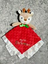 Baby Starters My 1st Christmas Reindeer Rattle Security Blanket Lovey Sa... - $13.93