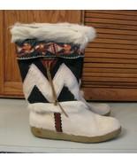 Tecnica Goat Fur Ski Winter Boots 37/14 Italy White Black Green Brown Si... - $49.49