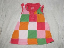 Baby Gap Patchwork Mesh / Pique Polo Dress Ruffles Bright 3-6 Girl - $14.84