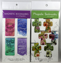 Magnetic Bookmarks 10 Set NEW Colorful Rectangle And Cross Bible Message... - $10.19