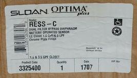 Sloan Optima Plus RESS-C Dual Filter Bypass Diaphragm Battery Operated Sensor image 4