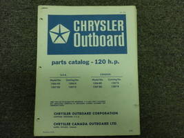 1971 Chrysler Outboard 120 HP Parts Catalog Manual OEM Factory Book 1971 x - $49.44