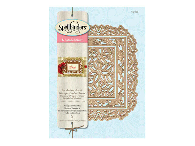 Spellbinders Holiday Card Creator Holly and Poinsettia Die Set #S2-006