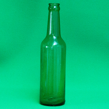 "Vintage (1940s?) Owens-Illinois (Duraglas) 10"" Green Soda Bottle - $2.95"