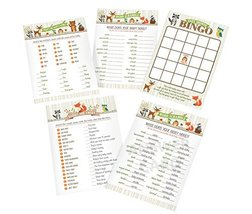 """Lillian Rose Woodland Baby Shower Game Cards, Neutral, 5"""" x 7"""" - $17.44"""