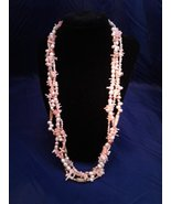 Handmade 3 Strand Pearl Coral Necklace95 - $120.00
