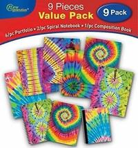 2 Pocket Folders, Tie dye 9/PC Value Pack by New Generation,Pocket Folde... - $32.90