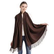 Cashemere Wool Pashmina Wraps, vimate Soft Brown Pashminas for Women for... - $22.77