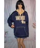 Pitt Panthers Hoodie zip up jacket NCAA Vintage Look Polyester warm size... - $24.70