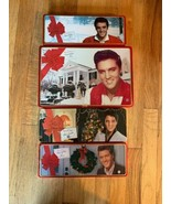 Lot of 4 Elvis Presley Russell Stover Happy Holidays Elvis Christmas Tin... - $14.99