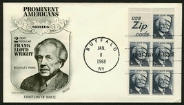#1280a 2c Frank Lloyd Wright-Use Zip Code, Fleetwood FDC **ANY 4=FREE SH... - $2.50
