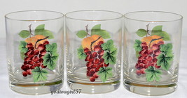 Royal Doulton Everyday Vintage Grape 3 DOUBLE OLD FASHIONED GLASSES Frui... - $24.95