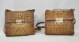 NWT Brahmin Manhattan Leather Shoulder/Crossbody Bag in Toasted Almond Melbourne image 11
