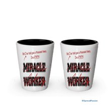I'm a Papa shot glass- Not a Miracle Worker -Papa Gifts (2) - €15,14 EUR
