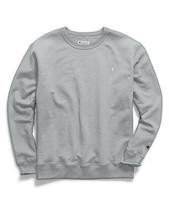 Champion Men's Powerblend Sweats Pullover T-Shirt Crew Oxford Grey CS088... - $40.00
