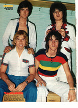 Bay City Rollers teen magazine pinup clipping sitting on wood blocks 197... - $3.50