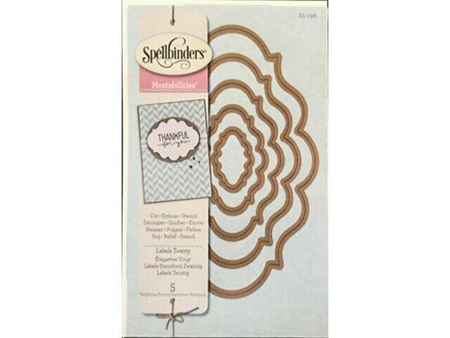 Spellbinders Nestabilities Labels Twenty Die Set #S5-026