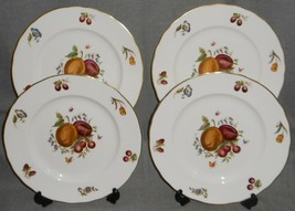 Set (4) Royal Worcester Delecta Pattern Dinner Plates Made In England - $98.99