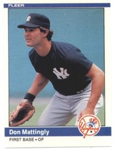 1984 Fleer #131 Don Mattingly RC - New York Yankees (RC - Rookie Card) N... - $33.99