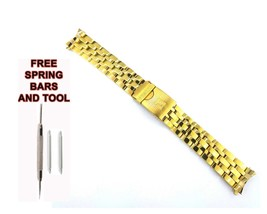 Fit For Tisso.PRS200 T067.417.33.041.00 19mm Gold Plated Steel WatchStra... - $44.54