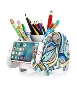 COOLBROS Elephant Pencil Holder With Phone Holder Desk Organizer Desktop... - $11.26