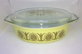Vintage Pyrex Golden Classic 1962 Promotional Covered 2.5 Qt Casserole D... - $24.49