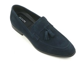 New Alfani Navy Blue Suede Declanny Tassel Loafers Drivers Shoes Size 11 - $39.59