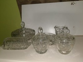 Anchor Hocking 6 pc.Lot,EAPC Early American Prescut Star of David-Vintage-70's  - $37.62