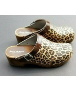 Hanna Andersson Clogs 37 Animal Print Leather US 6 - 6.5 - $47.03
