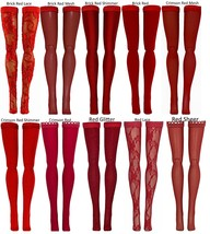 Red Doll Stockings for Momoko & Obitsu dolls - 23cm 25cm 27cm - $5.99