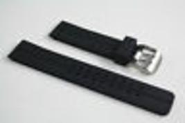 Black Rubber Heavy Watch Band s/s Buckle STRAP For Luminox  with 2 pin ... - $16.95