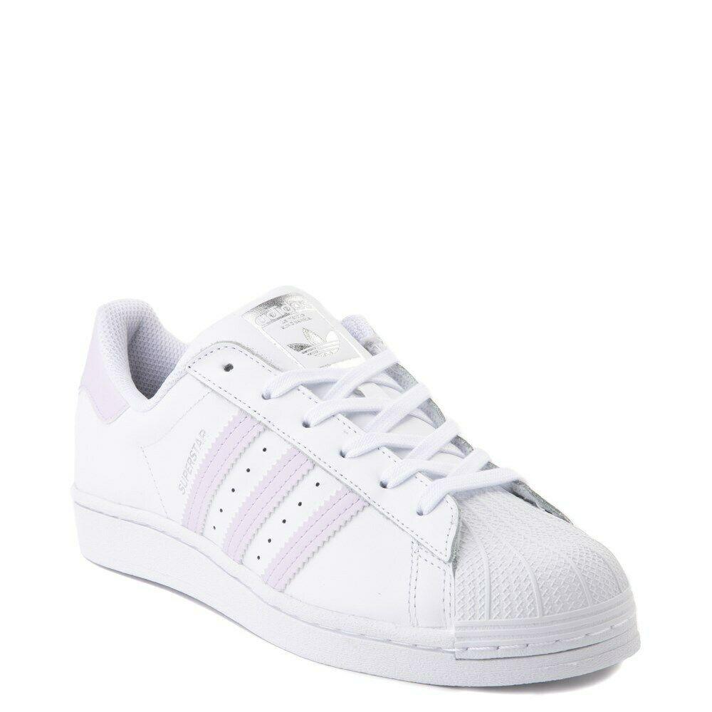 Neuf adidas Superstar Chaussure Blanc Lavande Femmes Classiques Originaux - $100.00