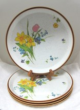 "Lot of 4 Mikasa Fresh Blooms Dinner Plate 10 7/8"" Cl903 In Great Shape  - $89.09"