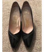 "Womens Black Ferragamo 3"" High Heel Shoes, Size 7.5B, Made In Italy! - $75.00"