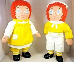 Ceramic Raggedy Ann and Andy Set 1974 Bobbs Merrill Plaster Figure Statu... - $18.55