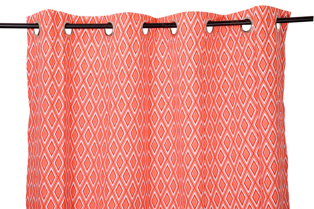 Primary image for 55 x 84 in. Grommet Curtain Diamond Print Coral