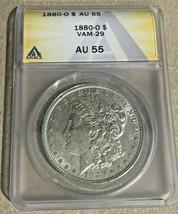 1880-O Nice New Orleans Minted ANACS AU55 VAM-29  Morgan Silver Dollar - $57.85