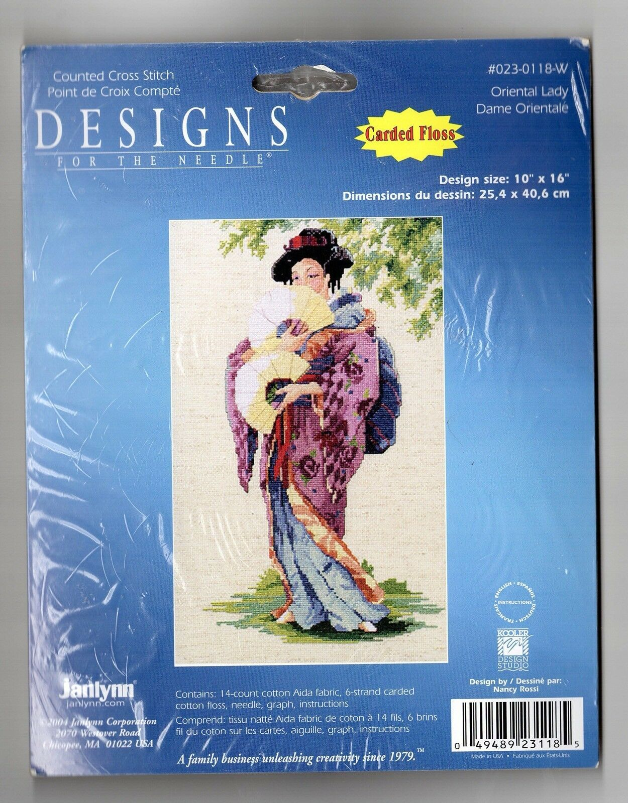 Primary image for Janlynn Oriental Lady Counted Cross Stitch Kit Designs For The Needle 10x16