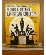Officially Approved Songs of the American Colleges Western Division (193... - $13.49
