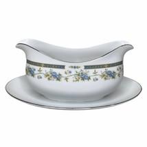 Vintage Four Crown China Gravy Boat Japan Barclay 519 Porcelain Floral F... - $39.60