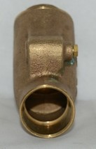 Legend 105 406 Bronze Y Pattern Check Valve Lead Free 1 1/4 Inch image 2