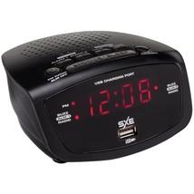 SXE SXE86001X LED Clock Radio with 1-Amp USB - $28.22
