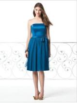 Dessy 2827....Cocktail length, Strapless Dress.....Ocean Blue.....Size 6 - €42,70 EUR