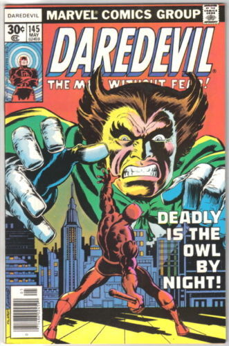Daredevil Comic Book #145 Marvel Comics 1977  FINE+